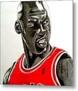 Air Jordan Raging Bull Drawing Metal Print