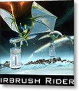 Airbrush Riders Metal Print