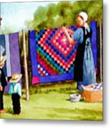 Airing The Quilts Metal Print