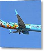 Alaska 737-990 N318as Spirit Of Disneyland Phoenix Sky Harbor November 27 2017 Metal Print