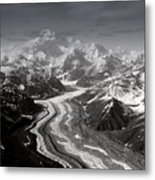 Alaska Range And Denali Metal Print