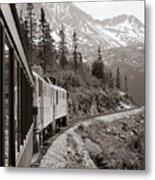 Alaskan Train Metal Print