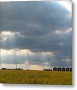 Alberta Wheat Field Metal Print by Stuart Turnbull