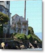 Alcatraz Island - Palette Knife Metal Print