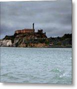 Alcatraz Storm Metal Print