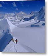Alex Lowe On Mount Bearskin 2850 M Metal Print by Gordon Wiltsie