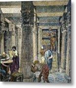 Alexandria: Library Metal Print