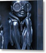 Alien Baby By Giger Metal Print