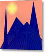 Alien Fortress Metal Print