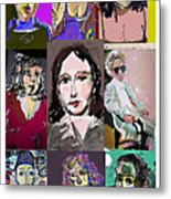 All About Faces 6 Metal Print