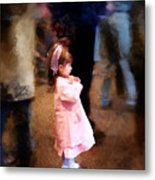 All Alone In A Crowd Metal Print