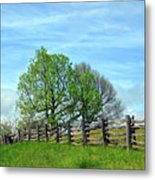 All Fenced In Along The Blue Ridge Parkway Metal Print