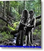 Allen And Steve On Mt. Spokane Metal Print