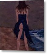 Alone By The Sea Metal Print
