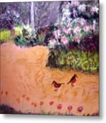 Along The Garden Path Metal Print
