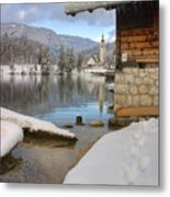 Alpine Winter Clarity Metal Print