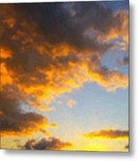 Amarillo Golden Sunset Metal Print