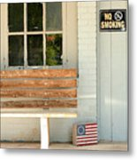 America No Smoking Metal Print