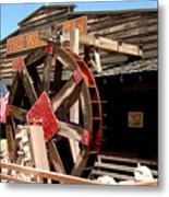 America Water Wheel Metal Print