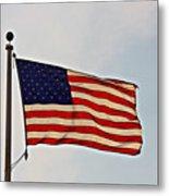 American Flag Waving Proudly- Fine Art Metal Print