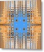 American Indian Weave Metal Print