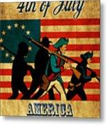American Revolution Soldier Vintage Metal Print by Aloysius Patrimonio