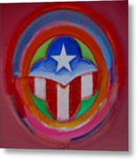 American Star Button Metal Print