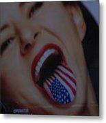 American Tounge Metal Print