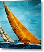 Americas Cup Sailboat Race Metal Print