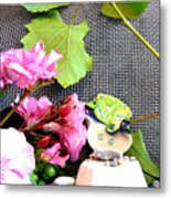 Among Leaves And Flowers Metal Print