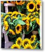 Amsterdam Sunflowers Metal Print