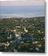 An Aerial View Of Chatham Metal Print by Michael Melford