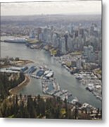 An Aerial View Of The City Of Vancouver Metal Print