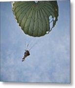 An Airman Descends Through The Sky Metal Print