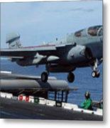 An Ea-6b Prowler Launches Metal Print