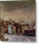 An Egyptian Feast Metal Print