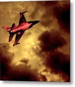 An F-16 Flies Through Hell Metal Print