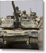 An M1a1 Abrams Tank Heading Metal Print