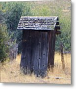 An Old Outhouse  Metal Print