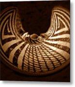 Anasazi Butterfly Pot Metal Print