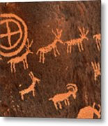 Ancient Indian Petroglyphs Metal Print