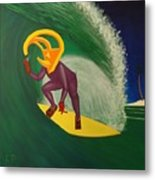 Ancient Relic Surfing Metal Print