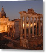 Ancient Romes Skyline At Sunset Metal Print