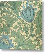 Anemone Design Metal Print by William Morris