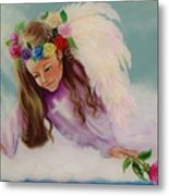 Angel Above Metal Print