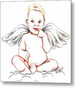 Angel Baby Metal Print