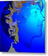 Angel Dreams Of Earth Metal Print