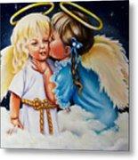 Angel Kiss Metal Print