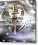 Angel On A Cloud Metal Print