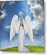Angel Releasing A Dove Metal Print by Jill Battaglia